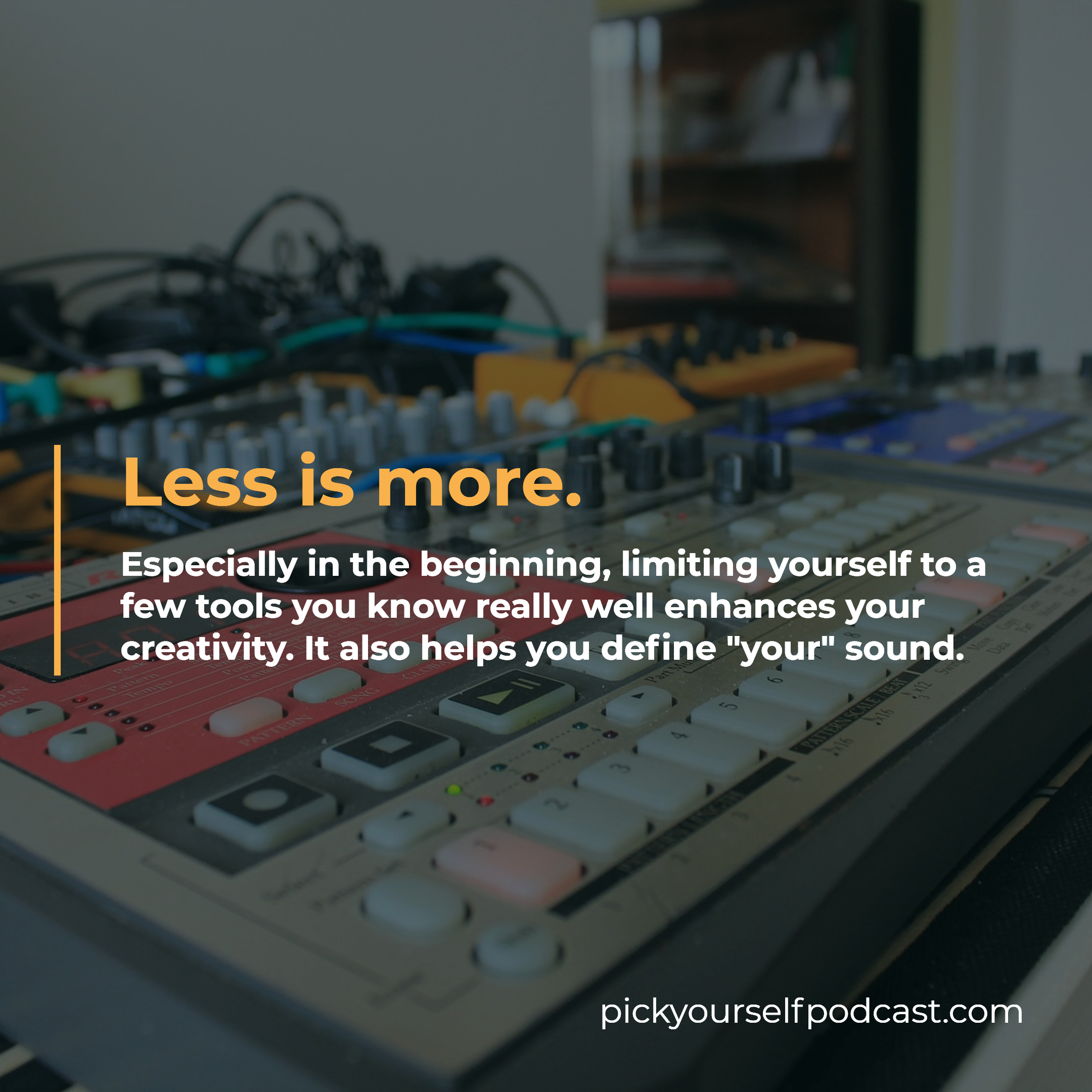 Gear for electronic music production visual 3. It says that less is more. You should focus on only a few key pieces of equipment.
