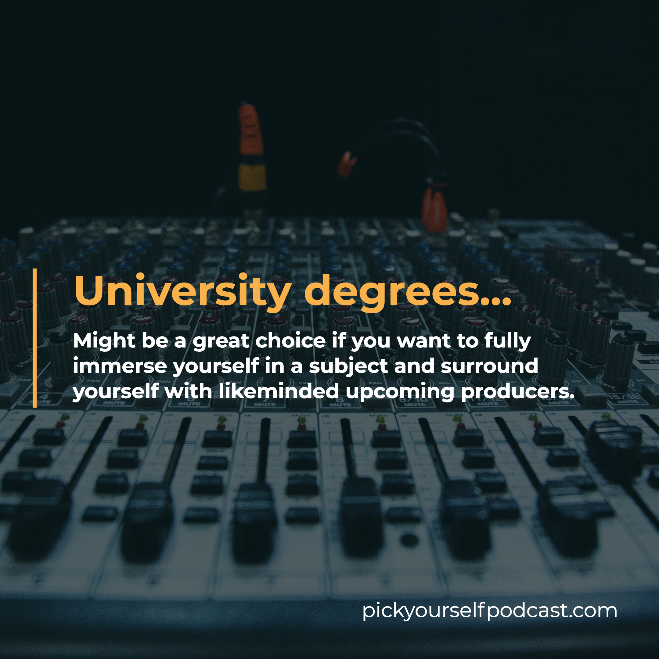 Electronic music degree programs at university level are perfect for you if you want to fully immerse yourself in a subject.