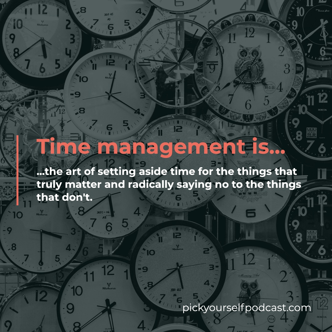 time management for music producers and DJs is the art of setting aside time for the things that matter and saying no to the things that don't.