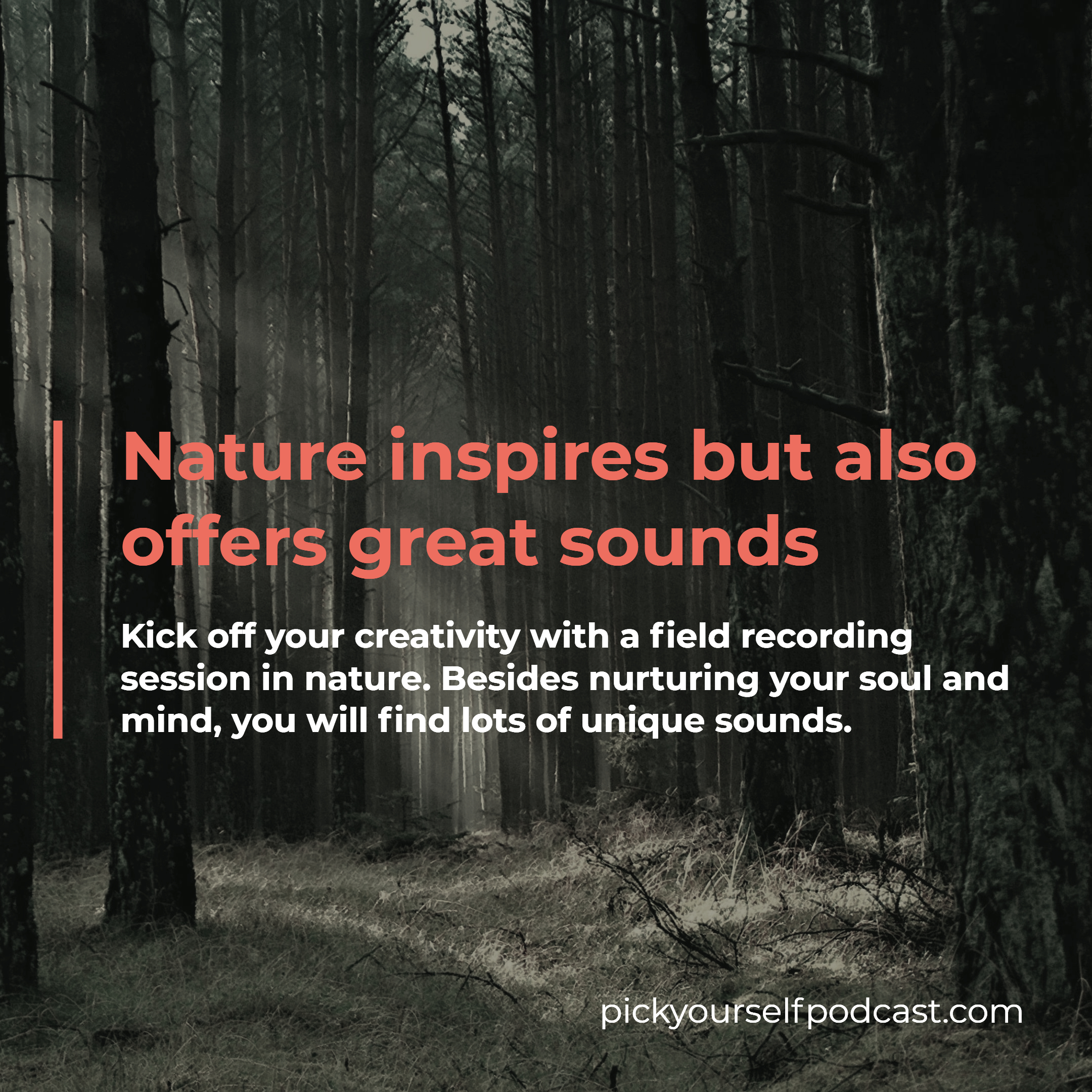 Generating song ideas visual 02. It Says Nature inspires but also offers great sounds!