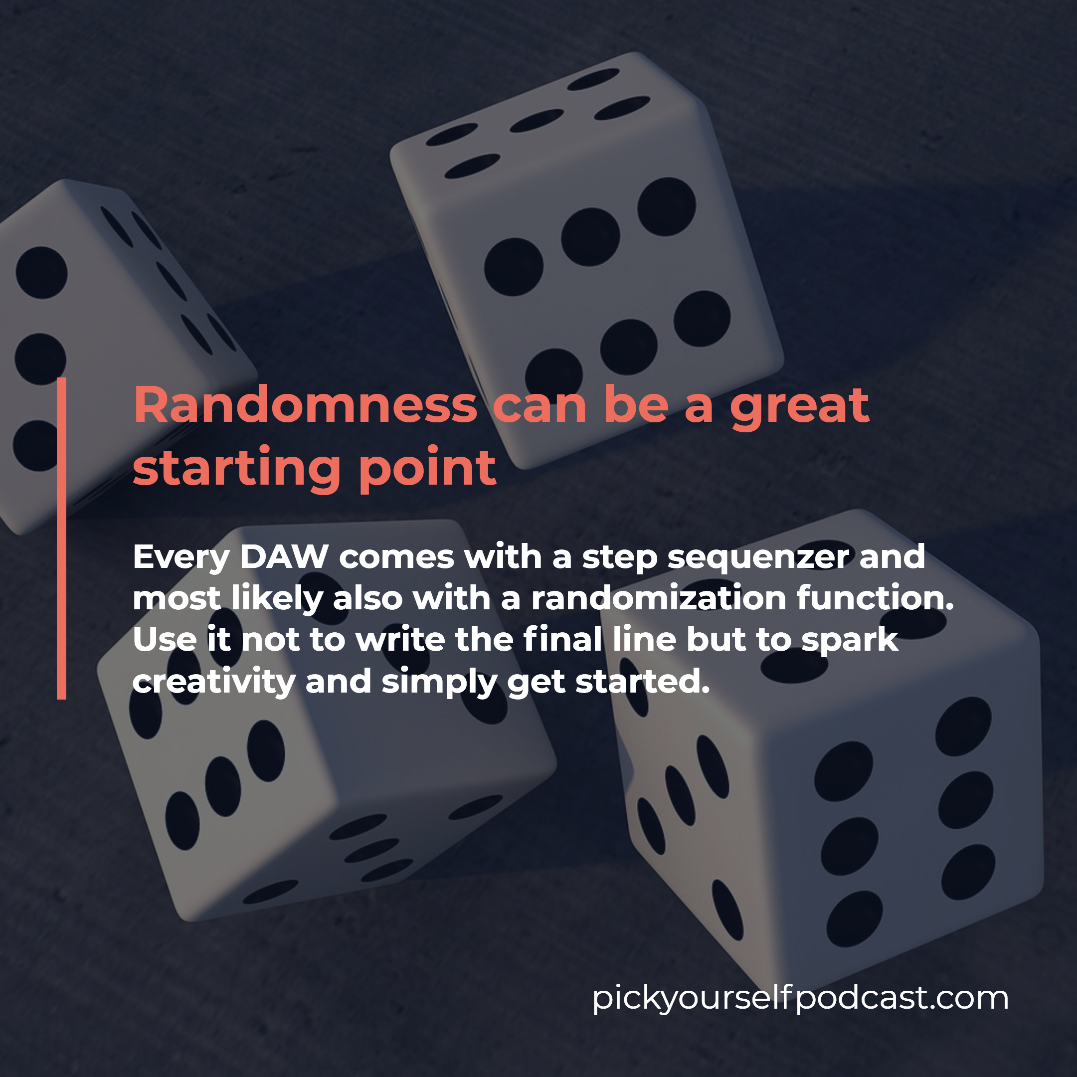 Randomness can be a great starting point