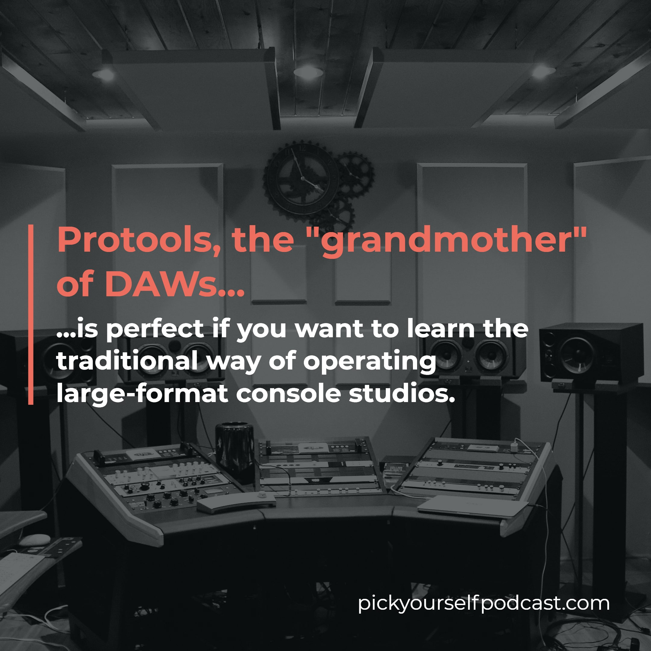 ProTools is perfect if you want to learn the traditional way of operating large-format console studios.