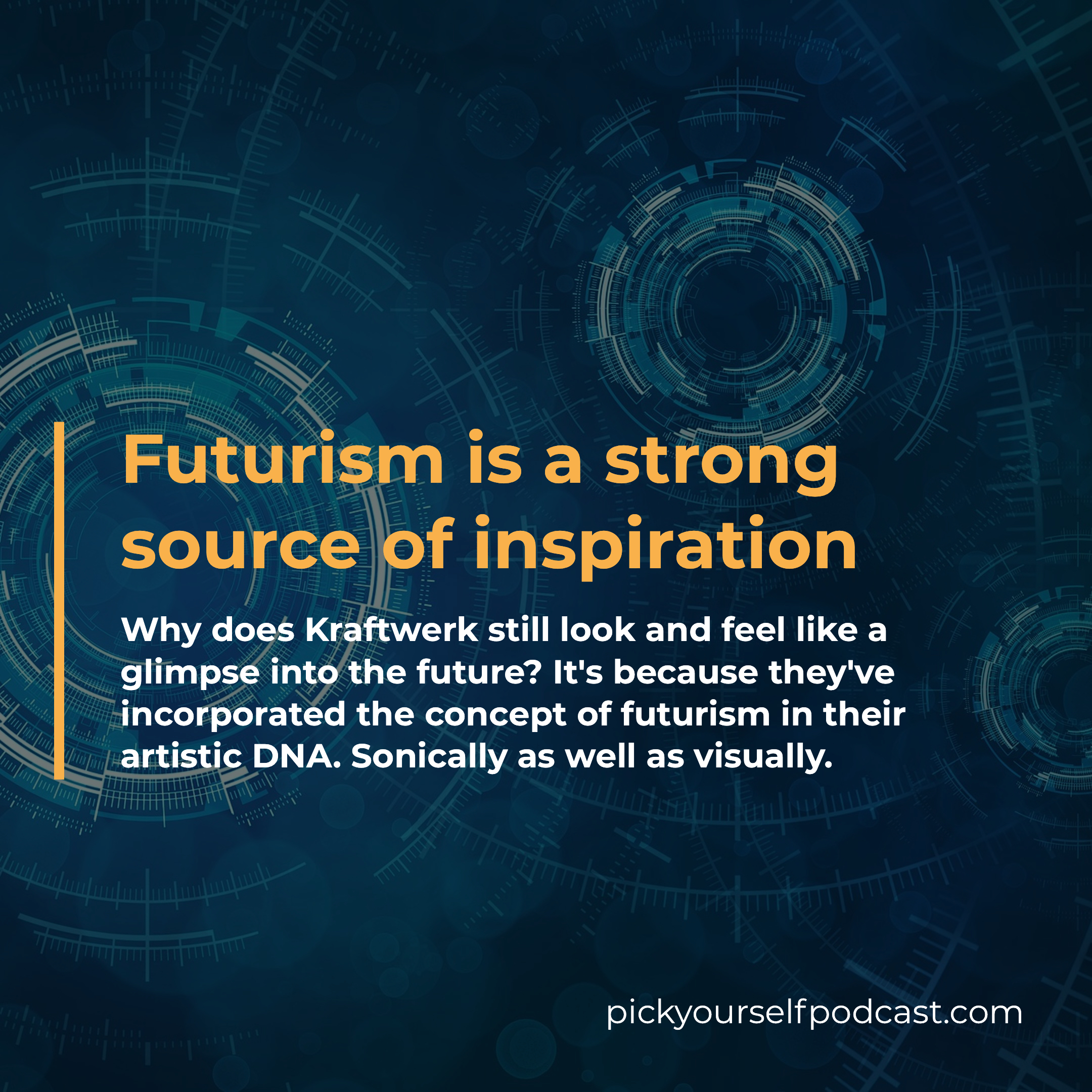 Futurism is a strong source of inspiration.