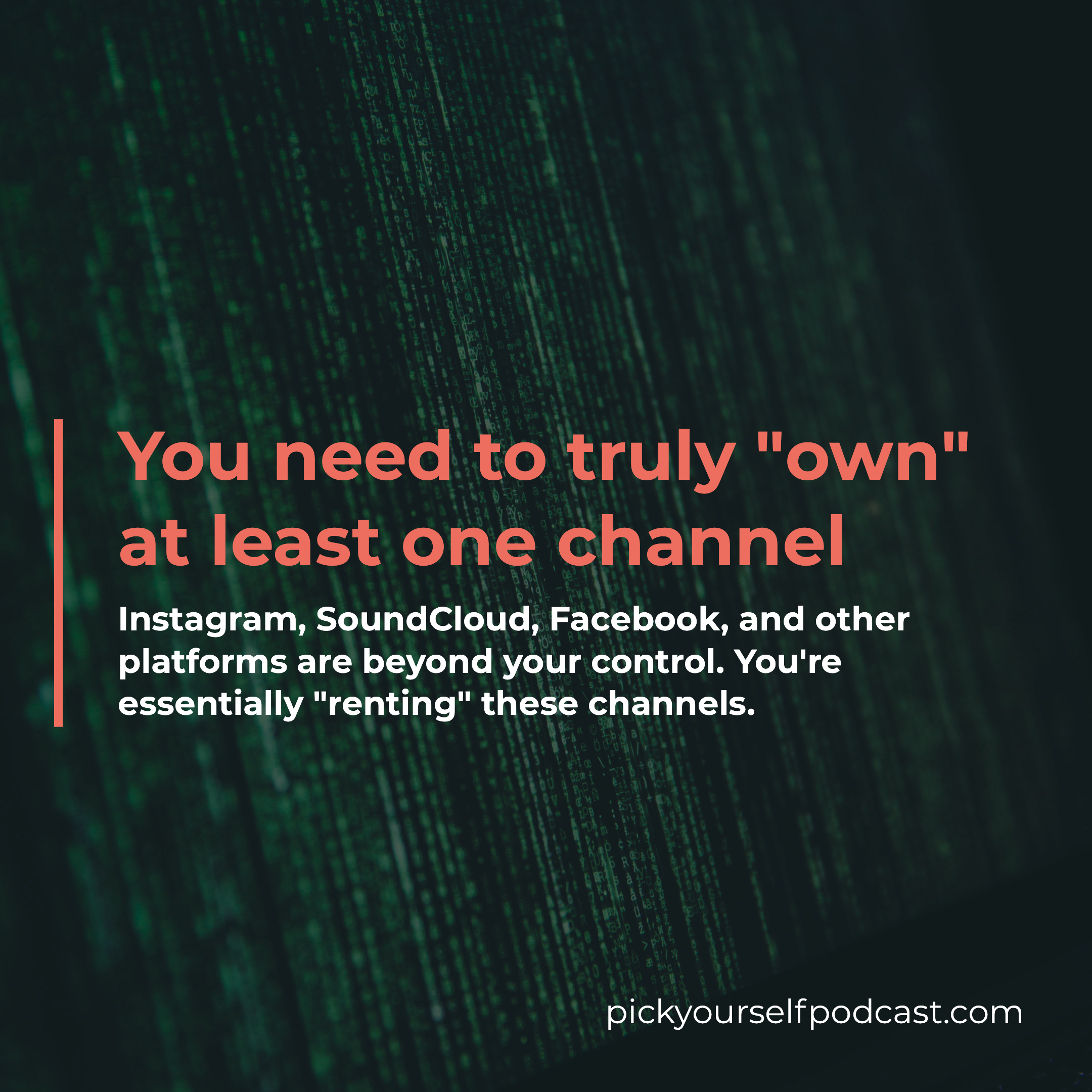 You need to truly own at least one channel and that's why you need a website as a music producer or DJ.