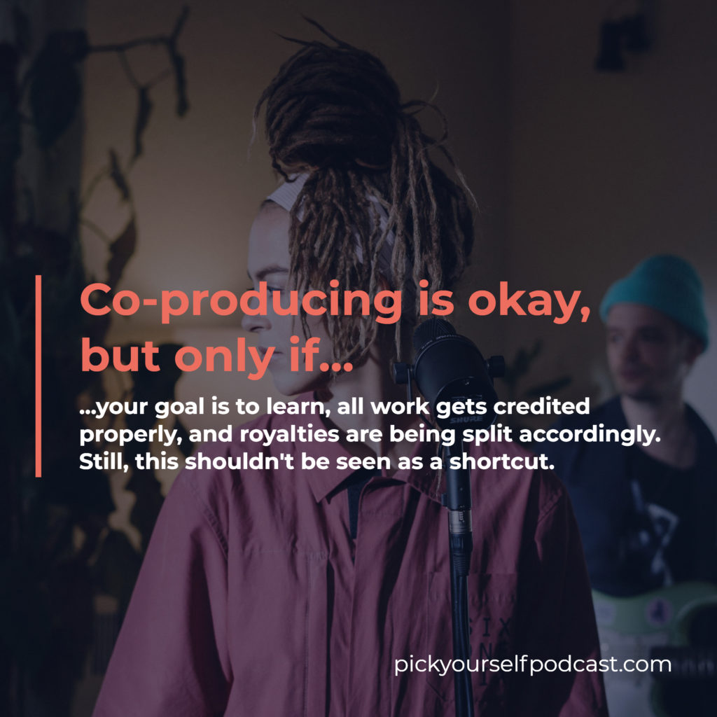 Co-producing is an alternative to ghost-producing electronic music. But only if all work gets credited properly, and royalties are being split accordingly.