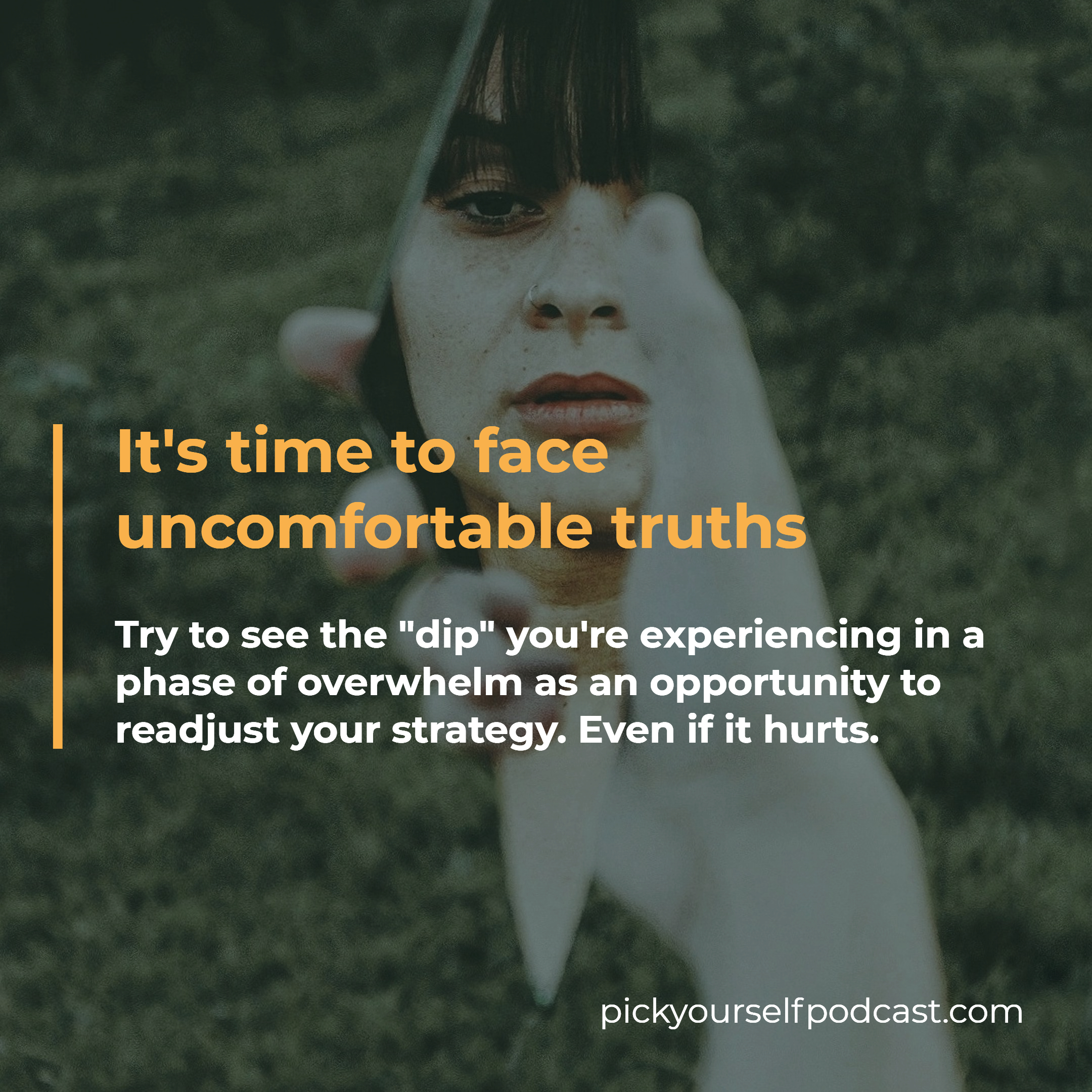 Dealing with overwhelm as an artist means facing uncomfortable truths.