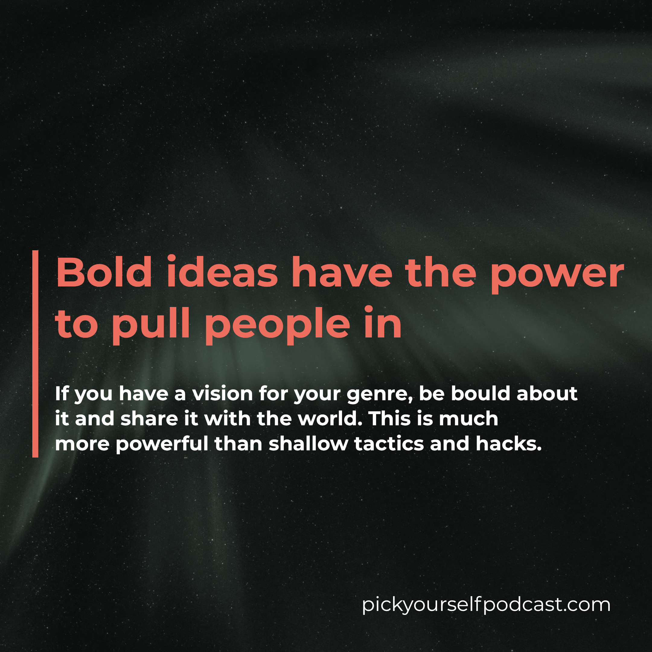Bold ideas have the power to pull people in. Becoming a thought-leader in your space is great music marketing.