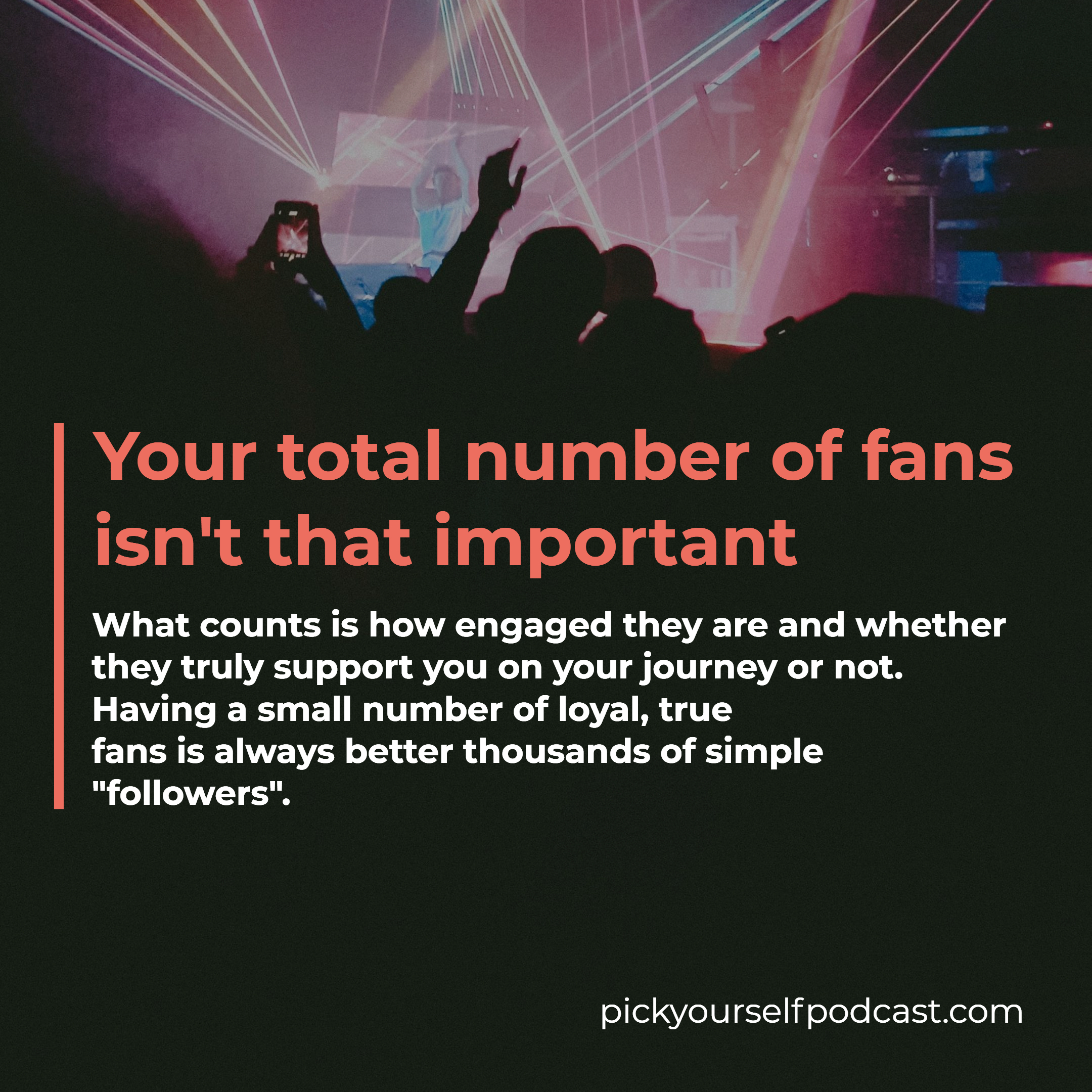 Music industry secrets: Your total number of fans isn't that important.